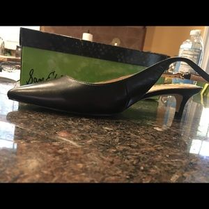 Sam Edelman blk leath slingback w kitten heal Sz8